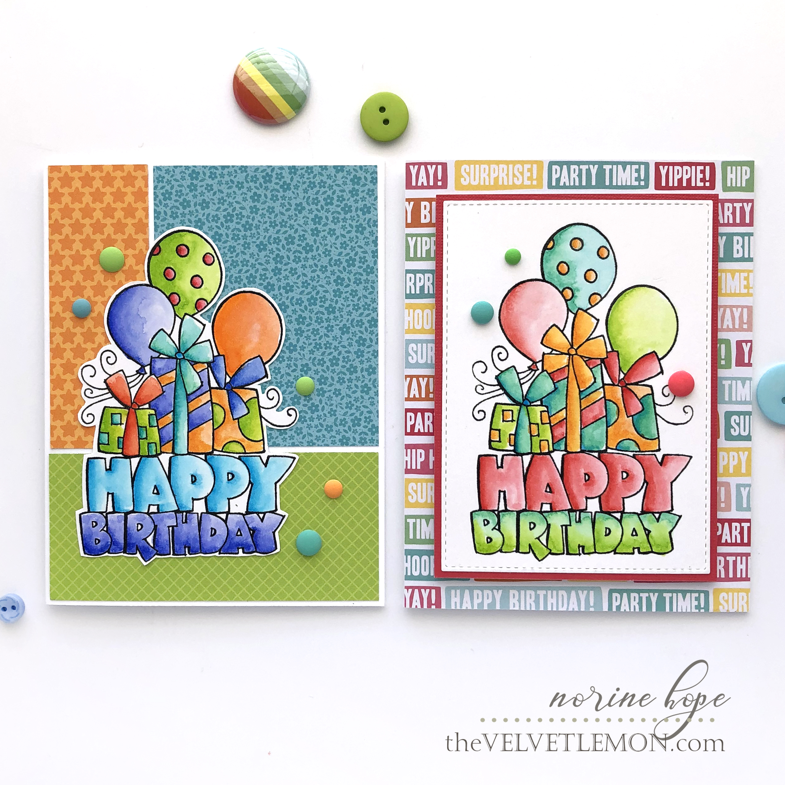I Have A Couple More Cards To Share Today Featuring One Of My Favorite Stand Alone Birthday Image Stamps Chunky Rubber Stamp From Stampendous